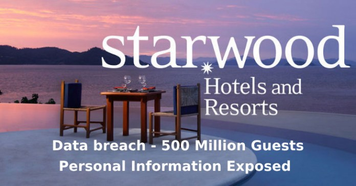 Starwood Hotels  - Starwood Hotels - Starwood Hotels – Hackers Stolen 500 Million Guests Personal Information