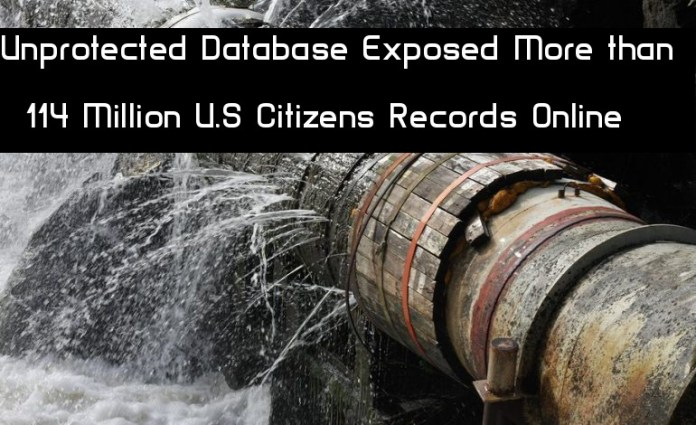 - ZVBWO1543535205 - Unprotected Secret Database Exposed More than 114 Million U.S Citizens Records Online