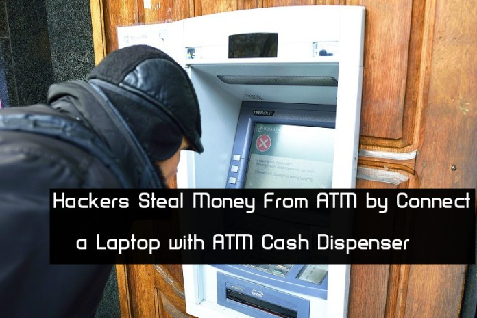 Dispenser  - AiM671544040728 - Malicious Hackers Steal Money From ATM by Connecting Laptop with ATM Cash Dispenser