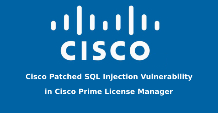 Cisco Prime License Manager  - Cisco Prime License Manager - Cisco Patched SQL Injection Vulnerability in Cisco Prime License Manager