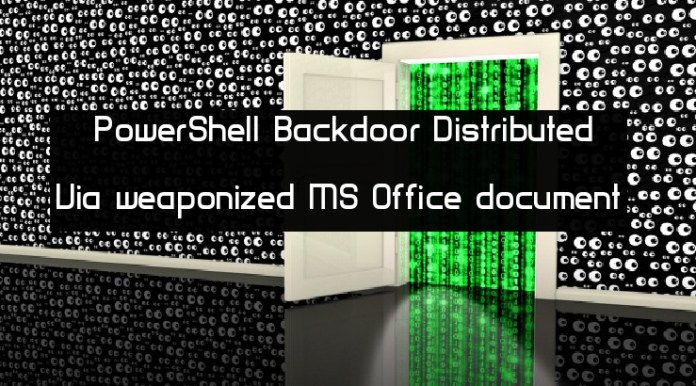 PowerShell based Backdoor  - K7sWM1543693443 - PowerShell-based Backdoor Distributed Via MS Word document