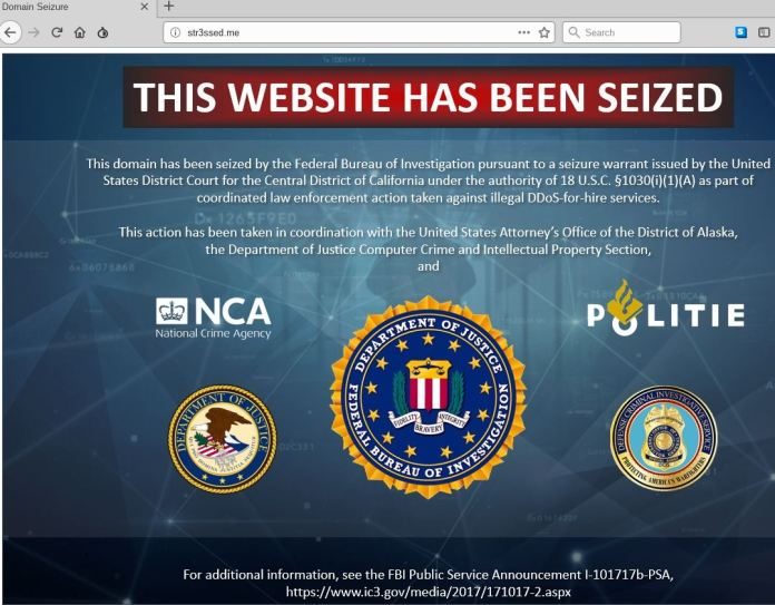 - domainseize - DDoS-For-Hire Services – 15 Websites Has Been Seized