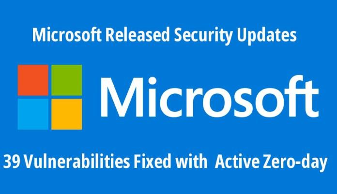 - q7i1D1544668287 - Microsoft Relesed Security Updates & Fixed 39 Vulnerabilities