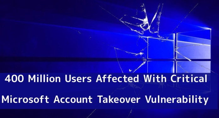 Microsoft  - wQJ661544610427 - 400 Million Users Affected With Critical Microsoft Account Takeover Vulnerability