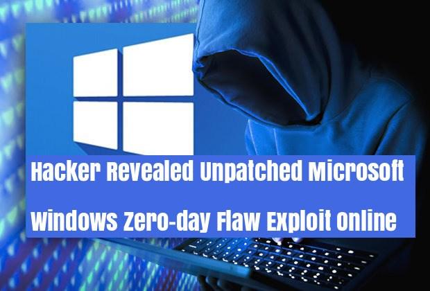 Windows Zero-day  - zero - Hacker Leaked New Windows Zero-day Vulnerability POC Online