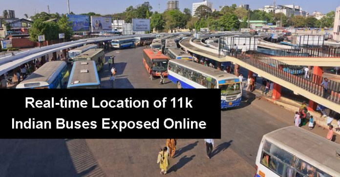 Indian Buses  - Indian Buses - Real-time Location of More Than 11k Indian Buses Exposed Online