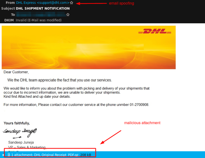 - dhl - Hackers Launching Muncy Malware Worldwide via DHL Phishing campaign