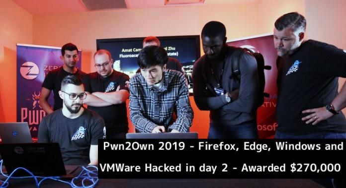 Pwn2Own  - Pwn2Own 2019  1 - Pwn2Own 2019 – Firefox, Edge, Windows, VMWare Hacked