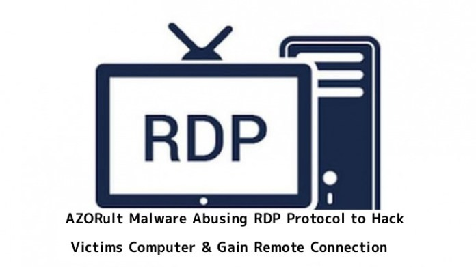 - rH90R1553411133 - AZORult Malware Abusing RDP Protocol To Steal the Data