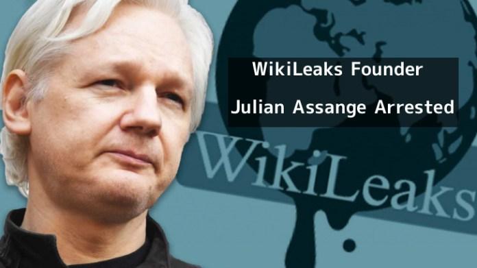 Julian Assange arrested  - exKHv1554993724 - WikiLeaks Founder Julian Assange Arrested at Ecuadorian Embassy