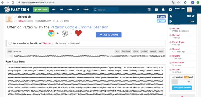 - pastbin - Hackers Drop RevengeRAT Malware On Windows Via Word Document