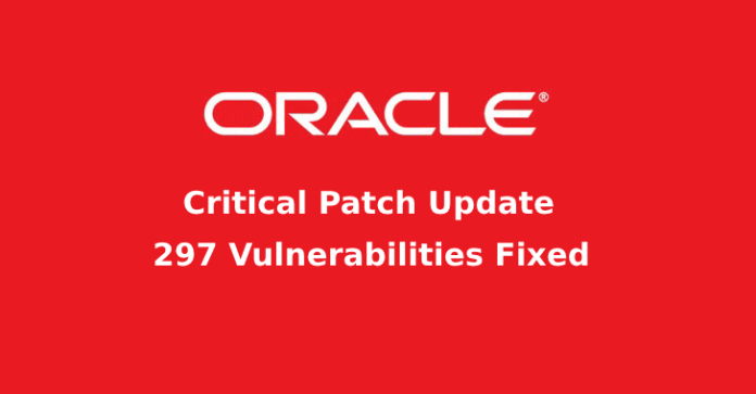 security vulnerabilities  - security vulnerabilities - 297 Vulnerabilities Fixed with the Oracle Critical Patch Update