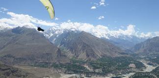 Paragliding Crash In Pakistan