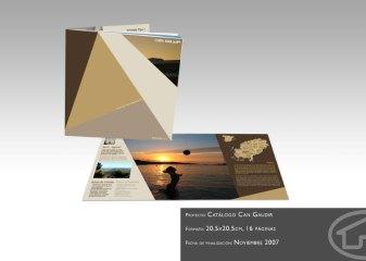 Catálogo de promoción inmobiliaria en Ibiza