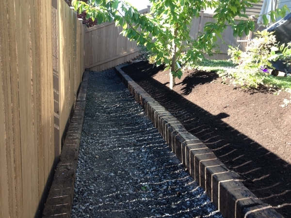 Railroad Tie Planter Box Slope