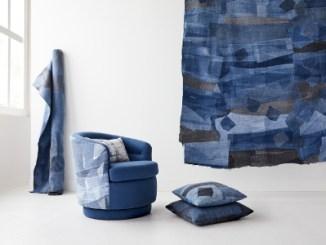 Jeans reciclado chega à sala de estar