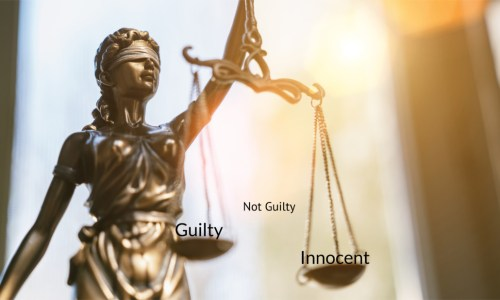 how do you represent guilty people