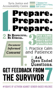 What the Syria Justice and Accountability Centre learned from our our guide Learn more - https://library.witness.org/product-tag/gender-based-violence/