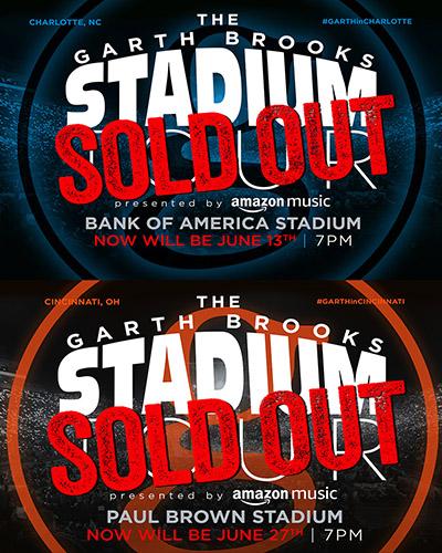 garth brooks 2019 stadium tour poster