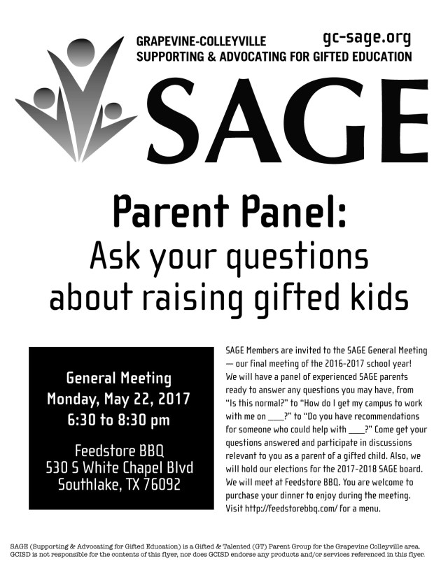 SAGE May 2017 Feedstore Parent Panel
