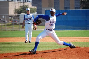 Galveston College Whitecaps Baseball Pitcher and Infielder