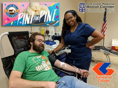 Blood Drive at Galveston College on August 29