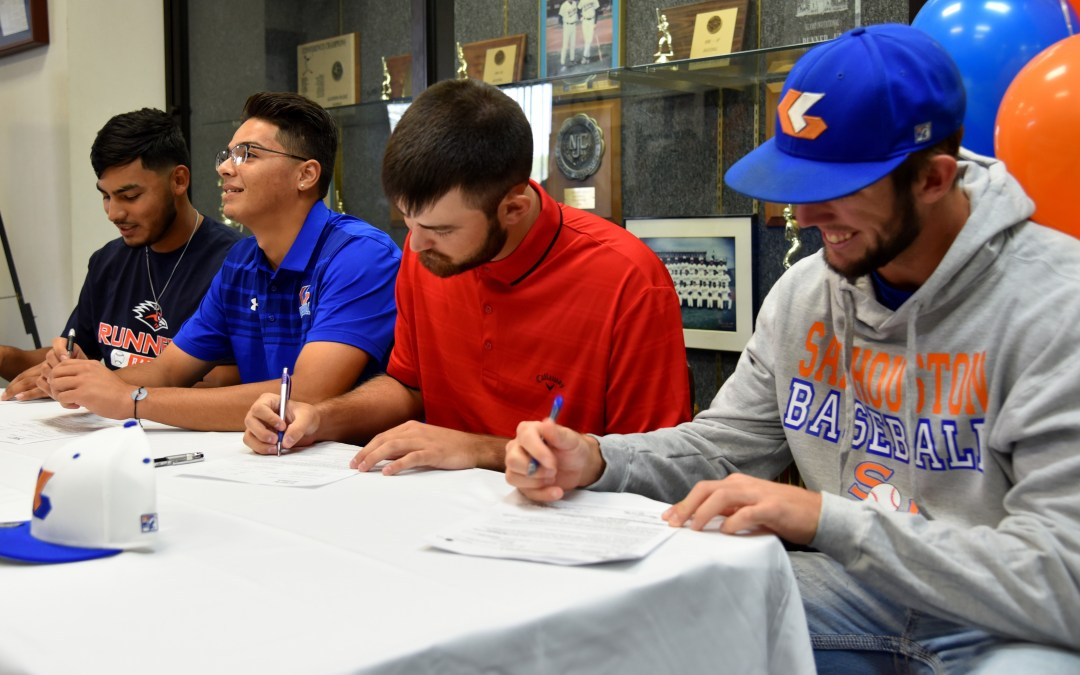 Four Galveston College Whitecaps sign  National Letters of Intent with NCAA Division I universities