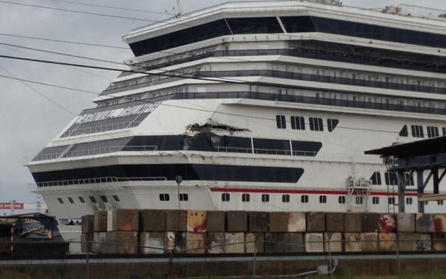 This picture is being circulating on twitter showing damage to the Carnival Triumph