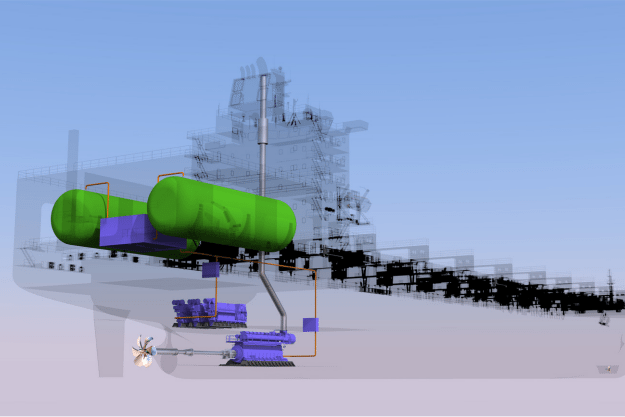 LNG fuel tank configuration.