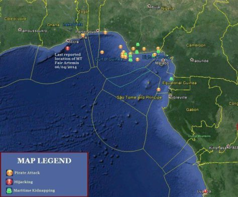 Gulf of Guinea Piracy 2014 (Data and analysis from Oceanus and Delex)
