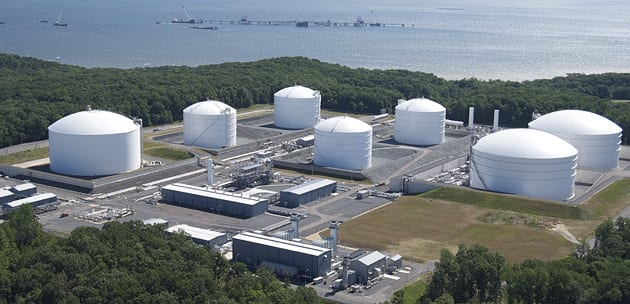 LNG storage tanks
