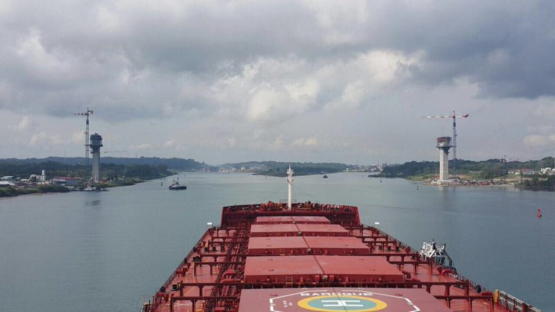 Headed for the new locks. Panama Canal Authority