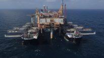 Allseas Pioneering Spirit First Oil Rig Decommissioning Job