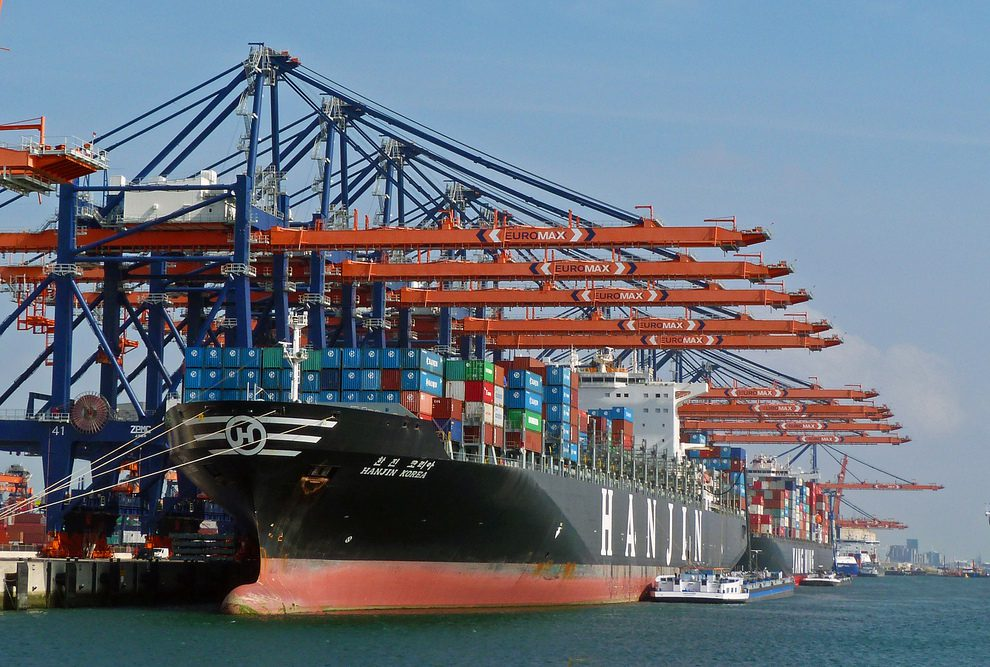 Hanjin Containership In Port