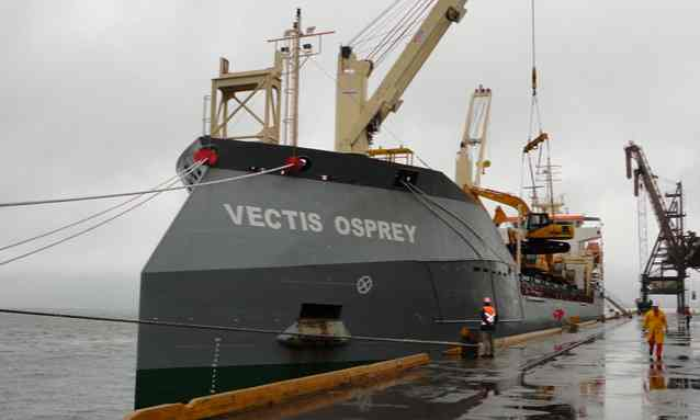 The British cargo ship MT Vectis Osprey was the target of an attempted hijacking off the coast of Nigeria. Photograph: Carisbrooke Shipping