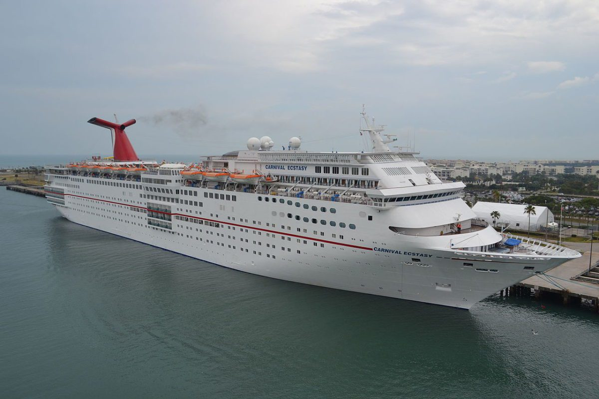 File photo shows Carnival Ecstasy in Port Canaveral, Florida. Photo: Sparrowman980