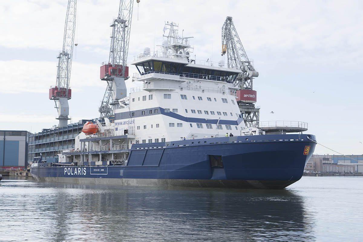 The Finnish Transport Agency's new icebreaker Polaris. Photo: Arctech Helsinki