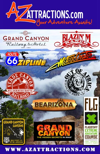 AZ Attractions Poster - 11x17 - 2016 - LoRes