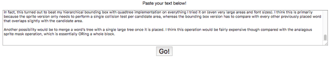 Paste your text and GO!