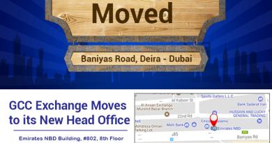 GCC Exchange moves to its New Head Office at Baniyas Road, Deira Dubai