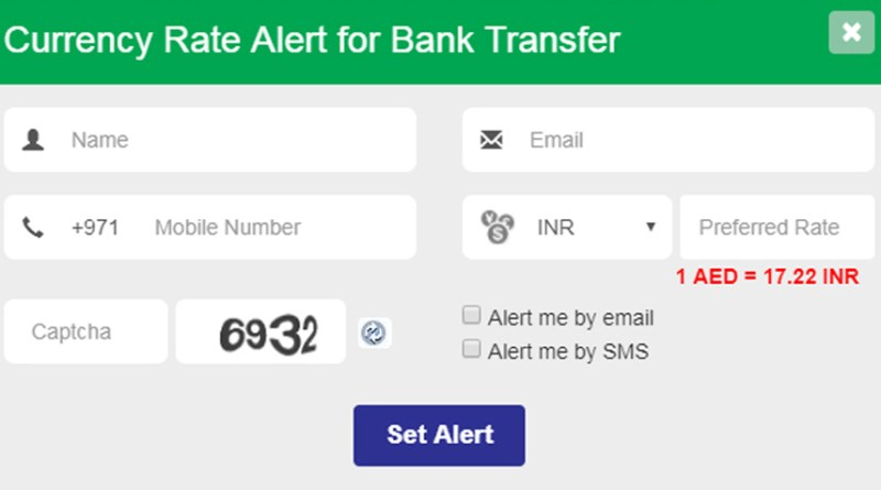 GCC Exchange Set Rate Alert