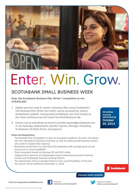 Scotia one business plan writer