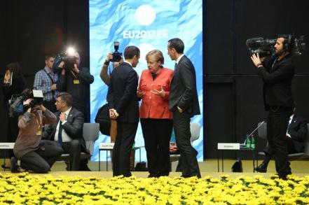 Macron-Merkel-Primer Ministro Austria