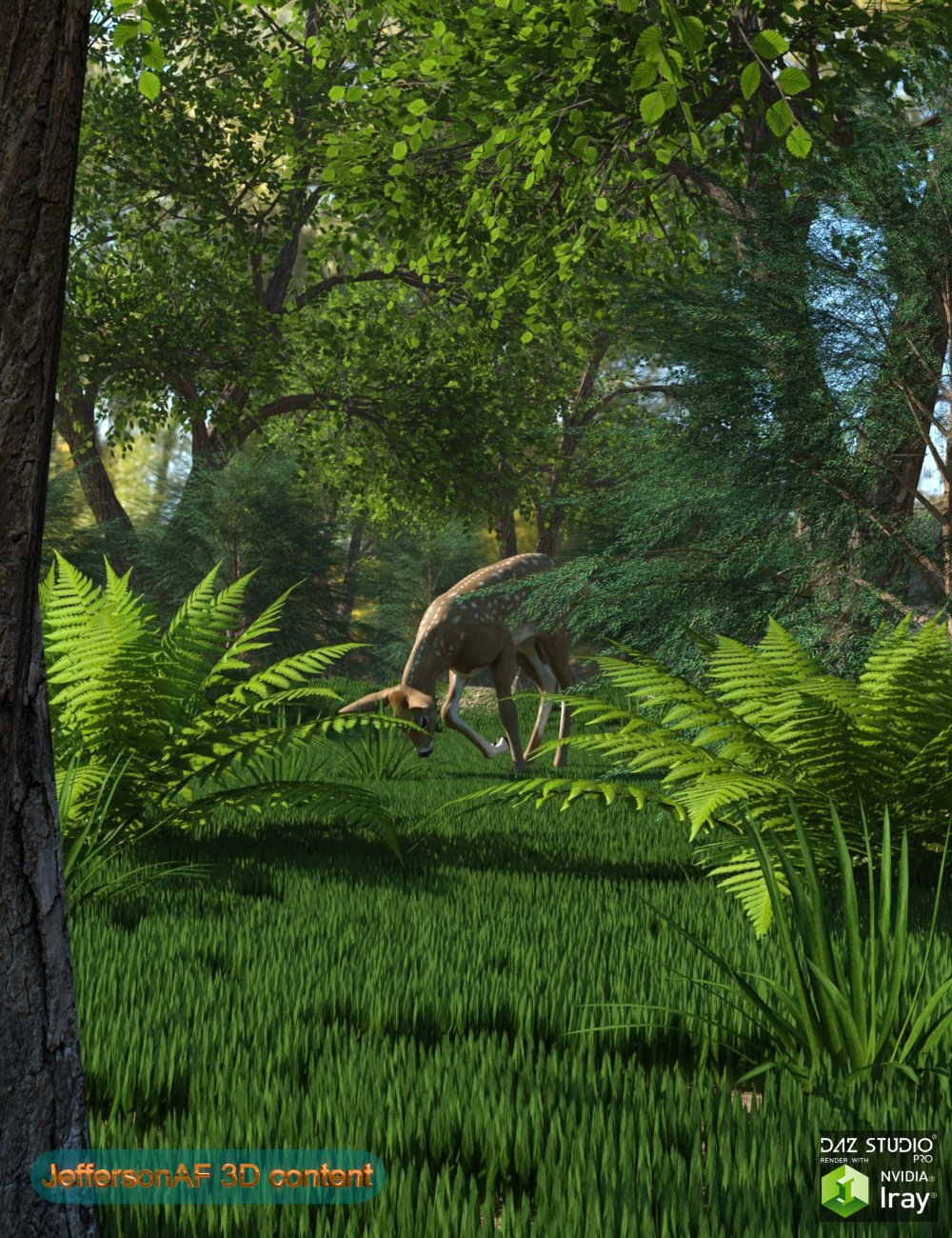 Special Plants and Trees for Iray by: JeffersonAF, 3D Models by Daz 3D