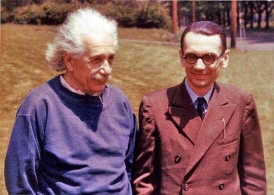 Albert Einstein y Kurt Gödel.