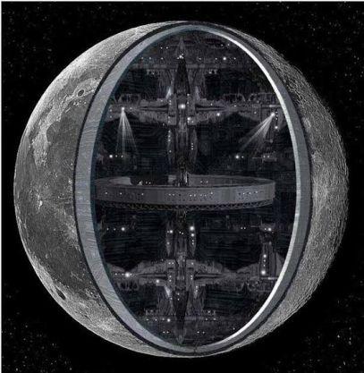 Resultado de imagen de luna es artificial