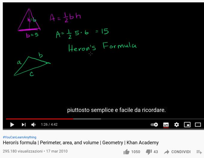 un ejemplo de subtítulos en un idioma no nativo en un video