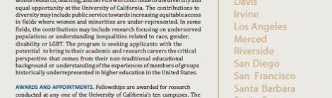 Call for Applications - UC President's Postdoctoral Fellowship Program x